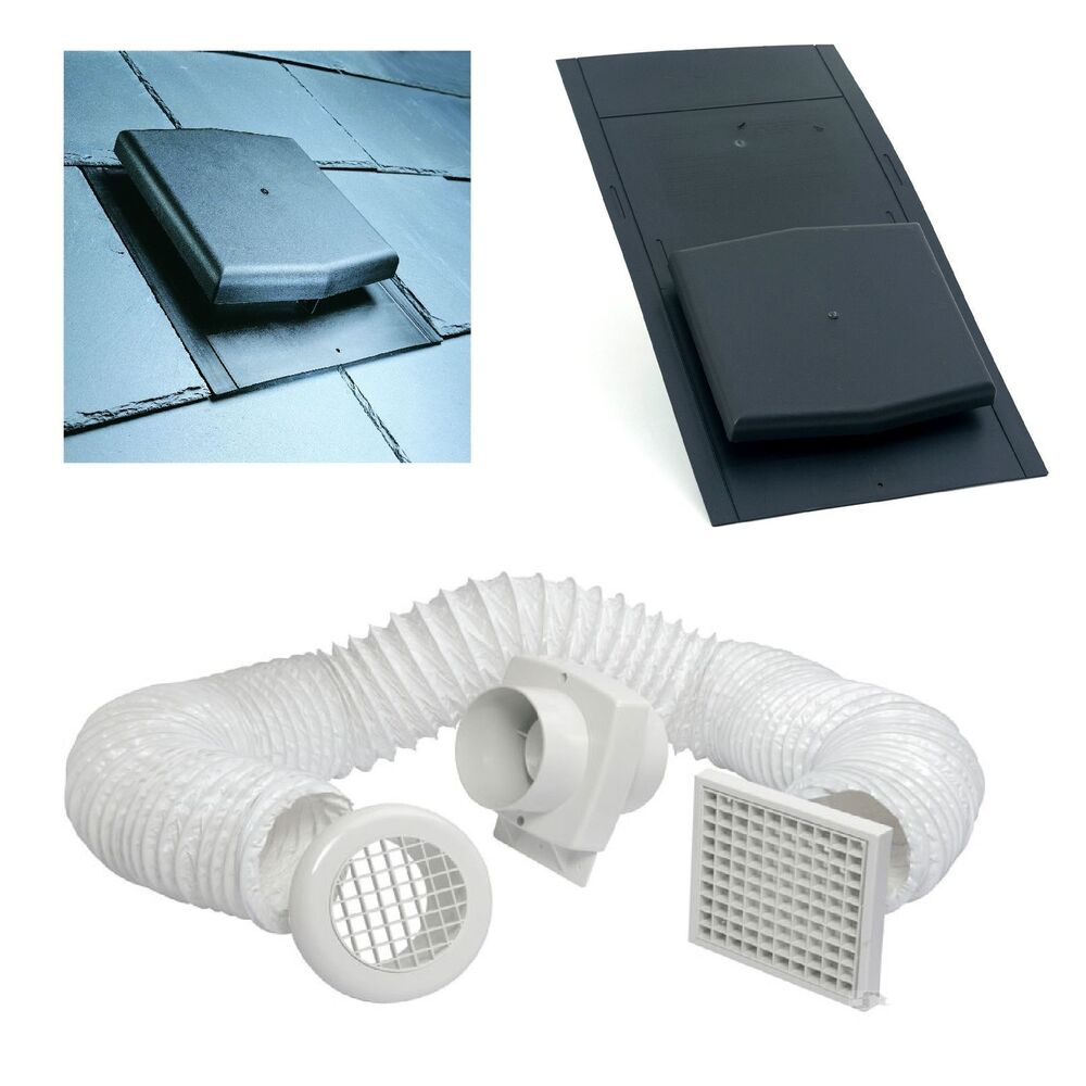 Inline Vent Fans For Bathrooms : Slate roof tile vent inline timer extractor shower fan