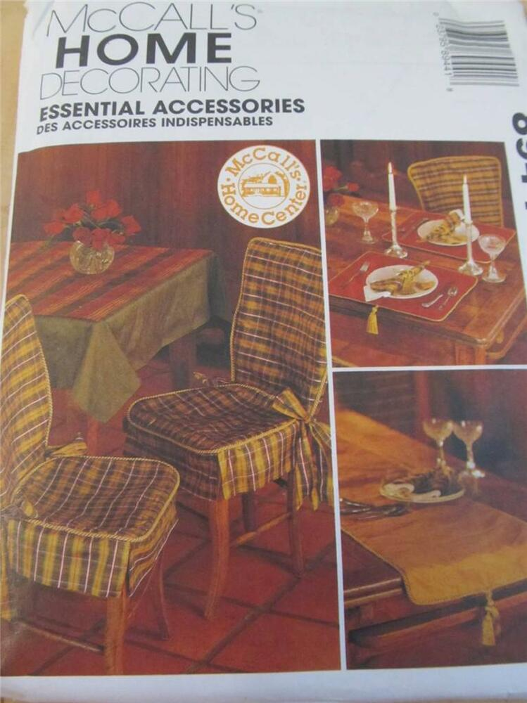 Mccalls Sewing Pattern New Uncut Home Decorating Chair