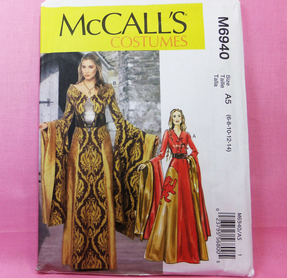 McCall's M 6940 Circe Evil Queen Gown Thrones Costume ...