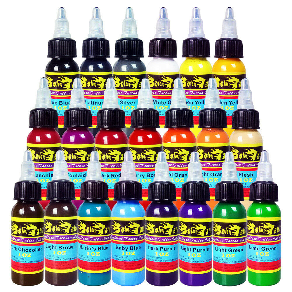 solong tattoo ink 21 colors set 1oz 30ml bottle tattoo