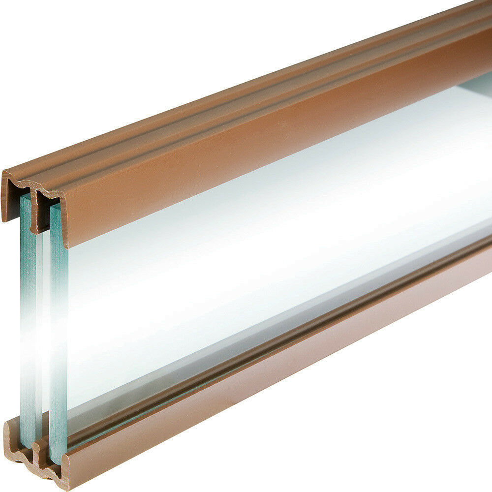 walnut tone 4 foot plastic sliding door track hardware