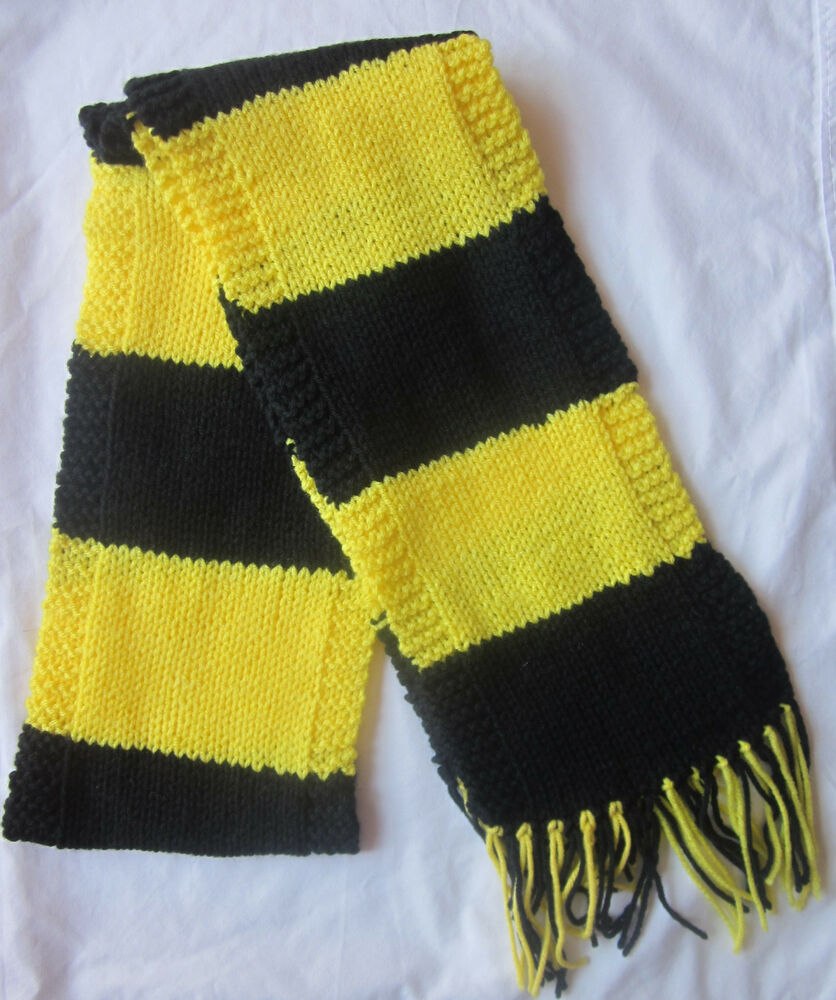 Knitting Pattern For Football Scarf : Hand Knit Scarf- PITTSBURGH STEELERS Team Football Scarf ...