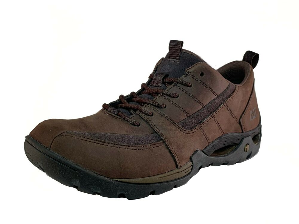 caterpillar criterion mens work casual brown leather