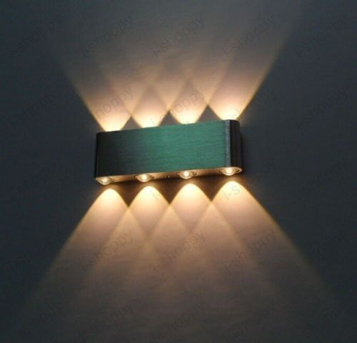 8w Dimmable Led Wall Sconce Light Up Down Lamp Rectangle