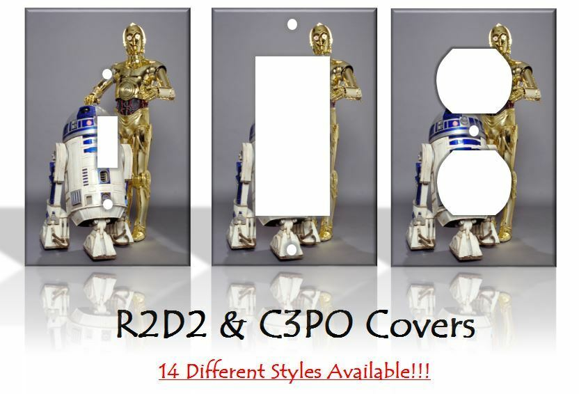 Star wars r2d2 c3po sci fi light switch covers home decor for Sci fi home decor