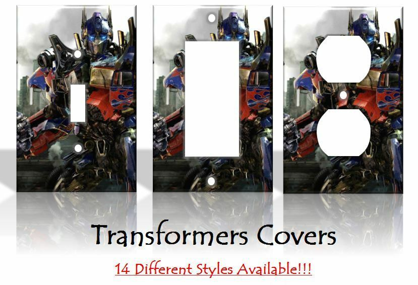 Transformers optimus prime sci fi light switch covers home for Sci fi decor