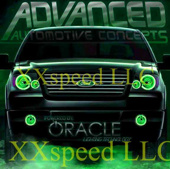 ORACLE Ford F-150 F150 04-08 GREEN LED Headlight + Foglight Halo Angel Eyes Kit | eBay