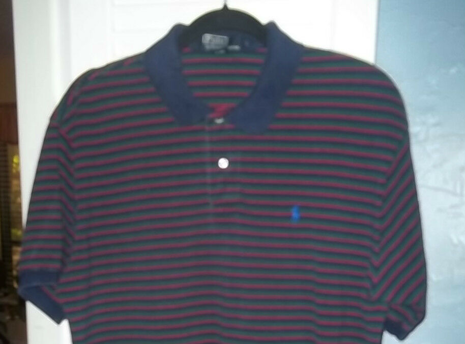 Men 39 S Ralph Lauren Polo Large Blue Green And Red Stripe