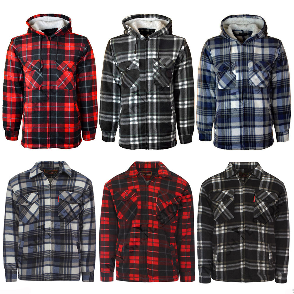 Mens Fleece Lined Flannel Shirts