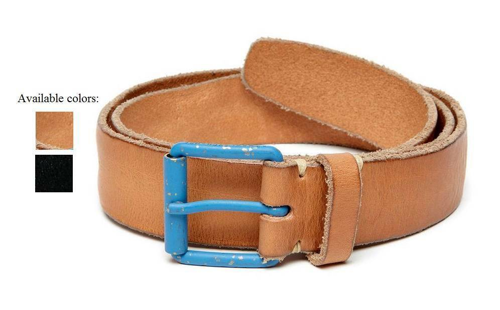 New Armani Exchange Mens Contrast Buckle Leather Belt ...