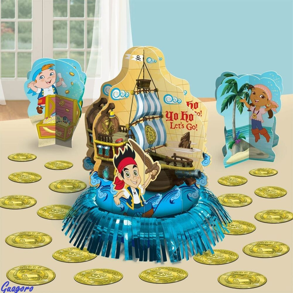 JAKE AND THE NEVER LAND PIRATES CENTERPIECE BIRTHDAY DECORATIONS PARTY SUPPLIES