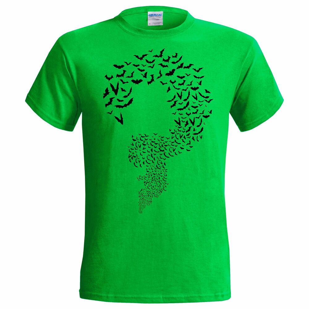 Riddler bats inspired big bang theory mens t shirt sheldon for Riddler t shirt with bats