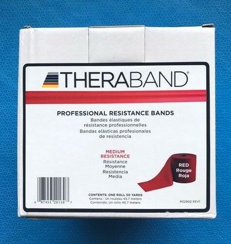 THERA-BAND Exercise Bands Medium Resistance Red 50 Yards