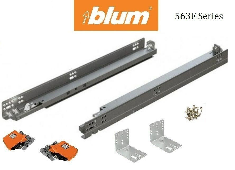 563f Blum Tandem Drawer Slides With Blumotion Pair With