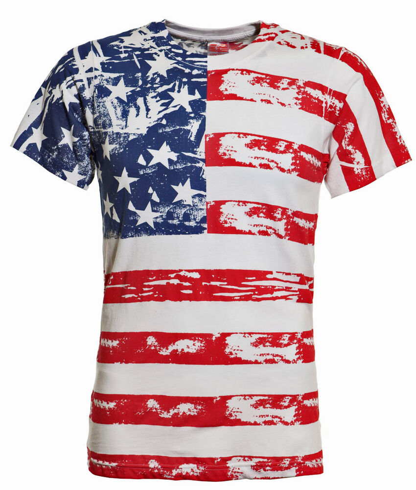 American Flag Distressed Full Body T Shirt Adult Medium Ebay