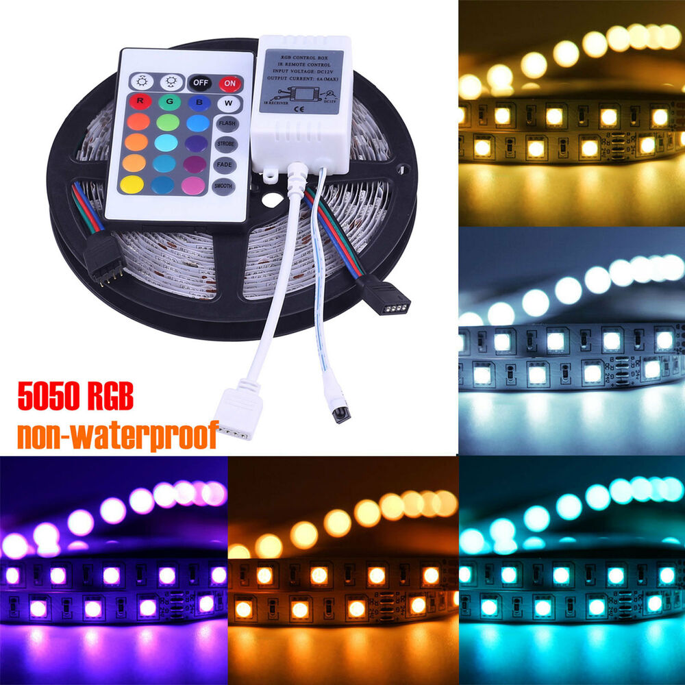 Outdoor Waterproof Solar Led Strip Light Smd 5050 5m: 5M 5050 RGB SMD 300 LED Non-waterproof Change Color 12V