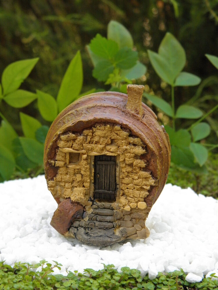Miniature Dollhouse Fairy Garden Small Barrel Shaped