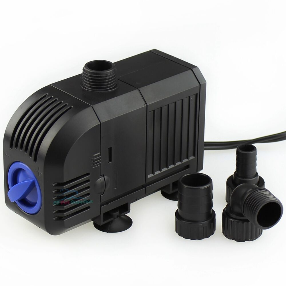 400 gph adjustable submersible water pump aquarium fish for Fish water pump