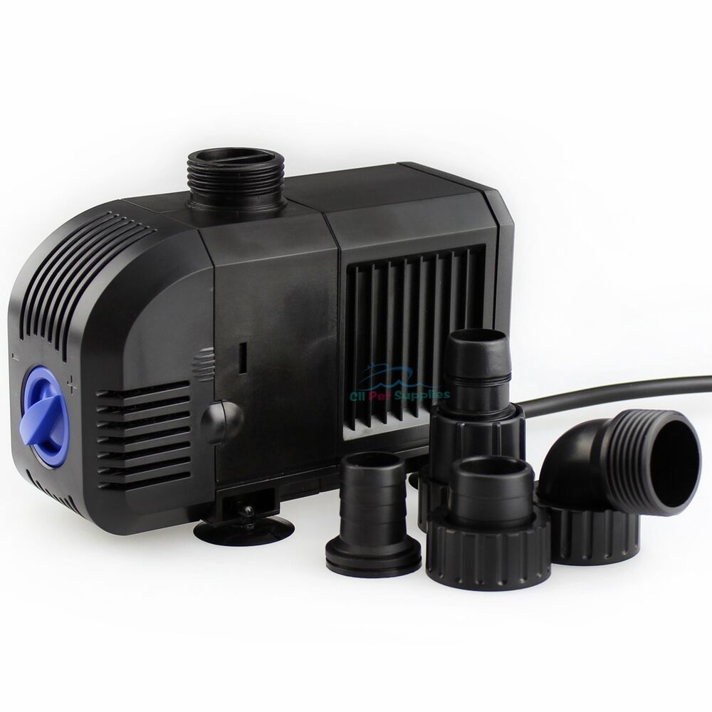 800 gph adjustable submersible aquarium water pond pump for Pond water pump