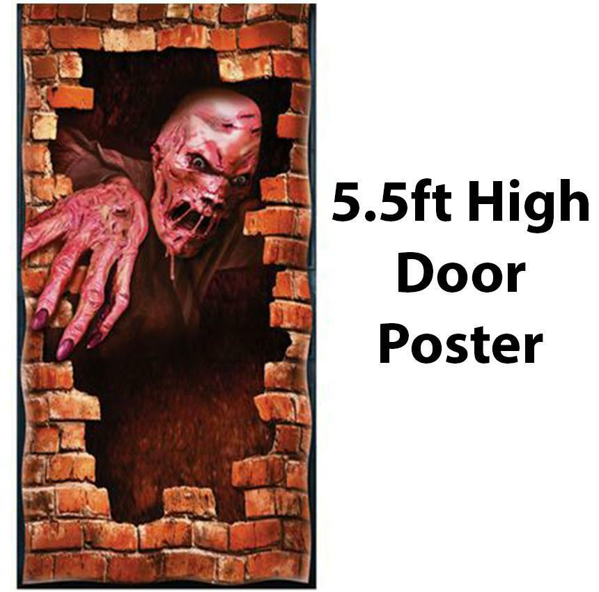 Halloween melting zombie door poster fancy dress for Poster decoratif