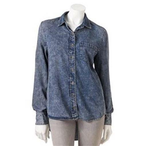 Denim Shirts. Showing 4 of 4 results that match your query. Search Product Result. Product - DYMADE Women's Sexy Off Shoulder Bandage Lace Long Sleeve Shirt Blouse Top Purple. Product Image. Product Title. DYMADE Women's Sexy Off Shoulder Bandage Lace Long Sleeve Shirt Blouse Top Purple. Price $ 9.