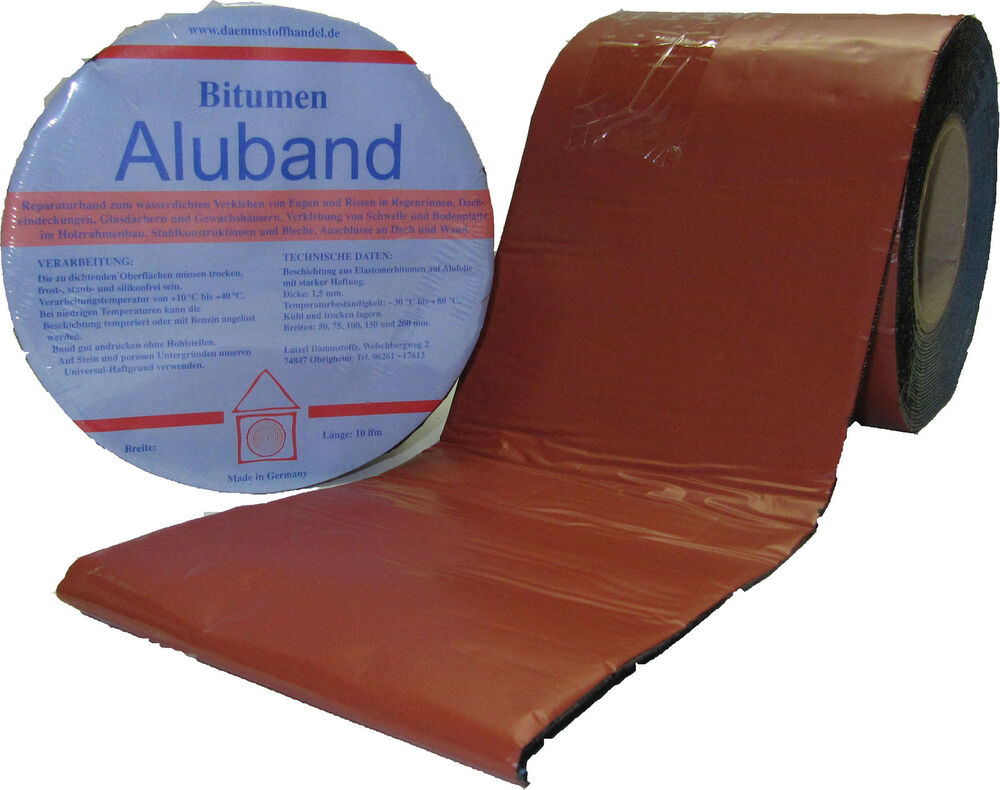 bitumen aluband reparaturband farbe terracotta 75 mm ebay. Black Bedroom Furniture Sets. Home Design Ideas