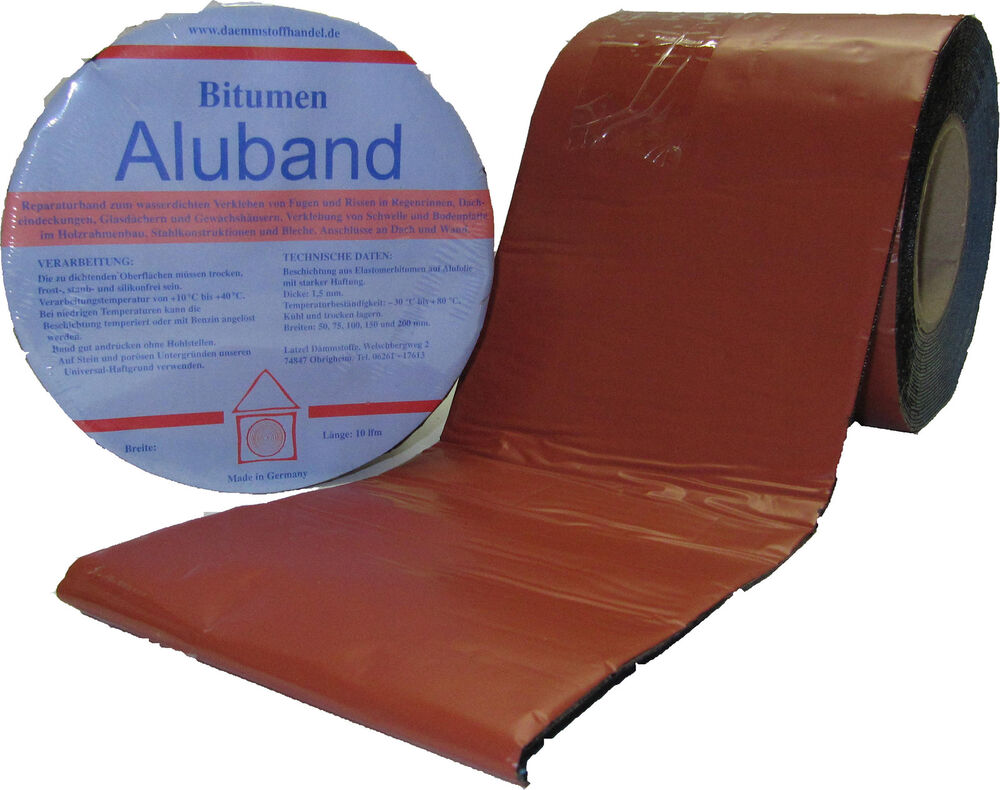 bitumen aluband reparaturband farbe terracotta 75 mm. Black Bedroom Furniture Sets. Home Design Ideas