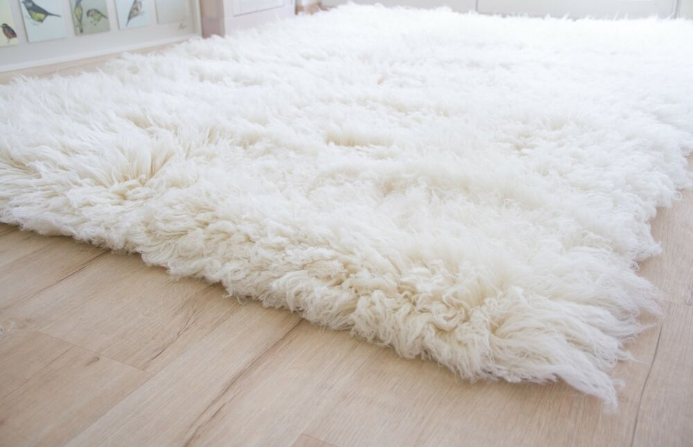Shaggy wool flokati rug from greece 3000gsm ivory natural - Tappeti flokati ...
