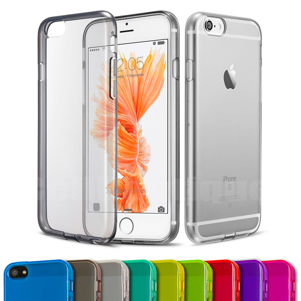 iphone 5s case soft silicone gel back cover screen protector for 1074