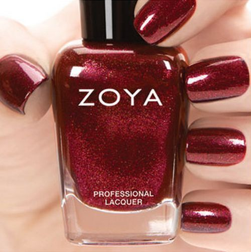 ZOYA ZP755 INDIA Ignite Collection~ Deep Gold Red Metallic