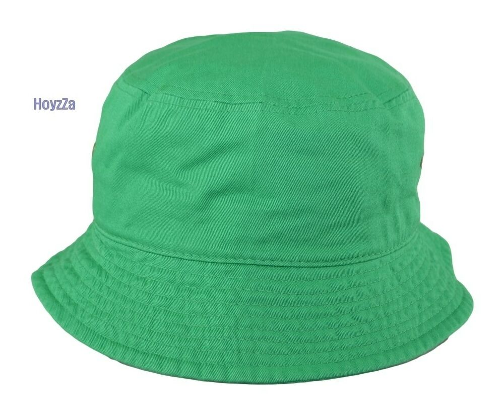 Mens Bucket Hat Plain 100 Cotton Outdoor Hunting Camping