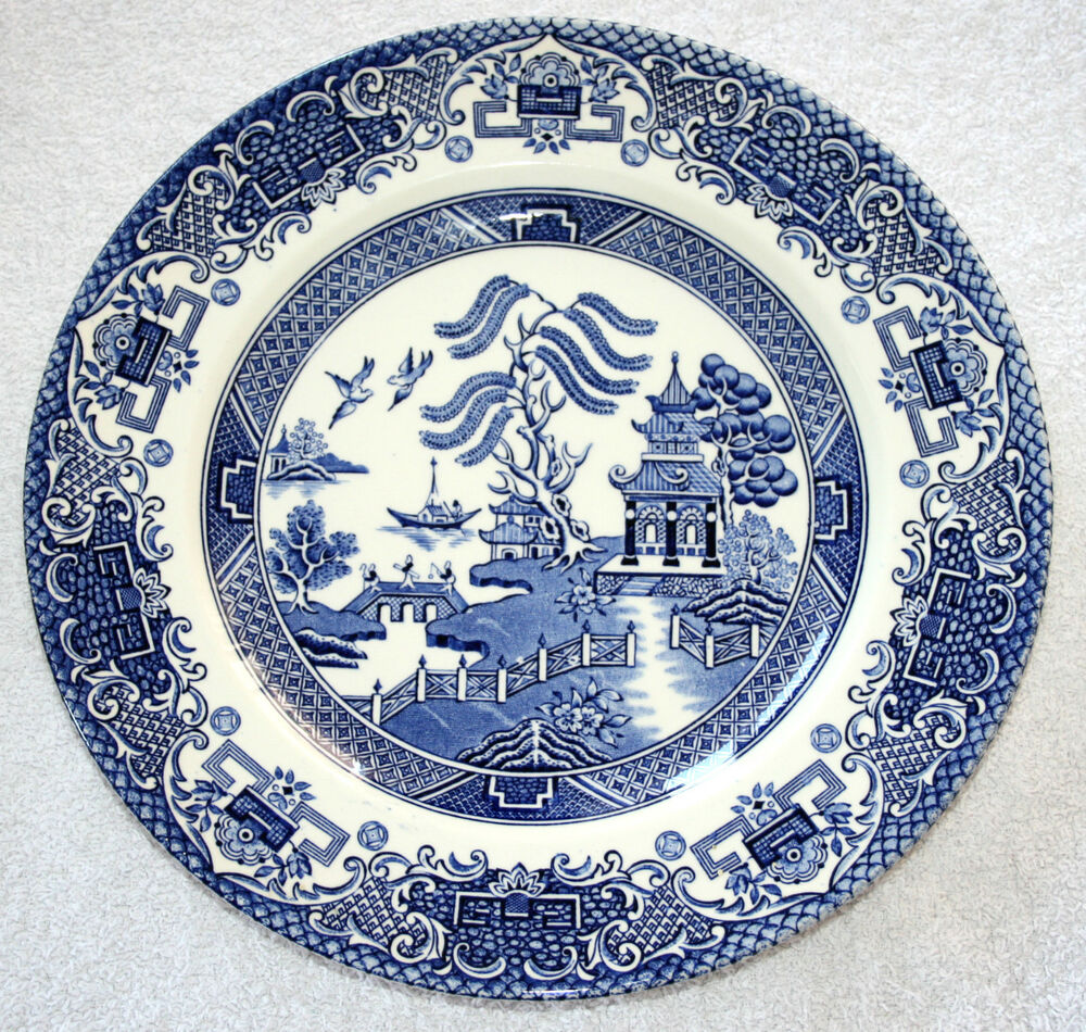 Vintage english ironstone pottery dinner plates old for Pottery patterns