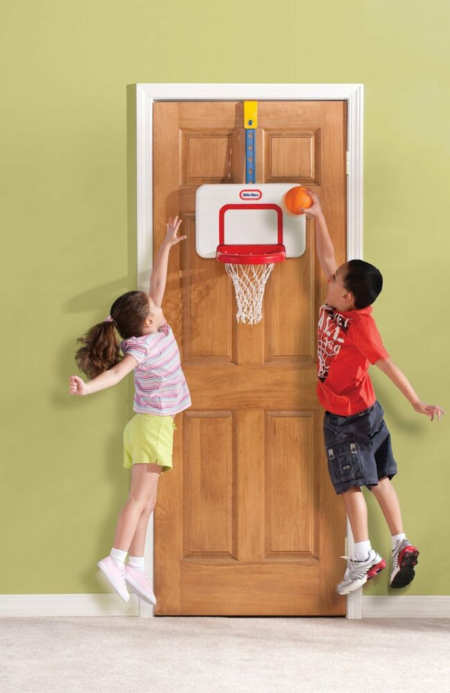 Over The Door Basketball Hoop & Ball Adjustable Heights ...