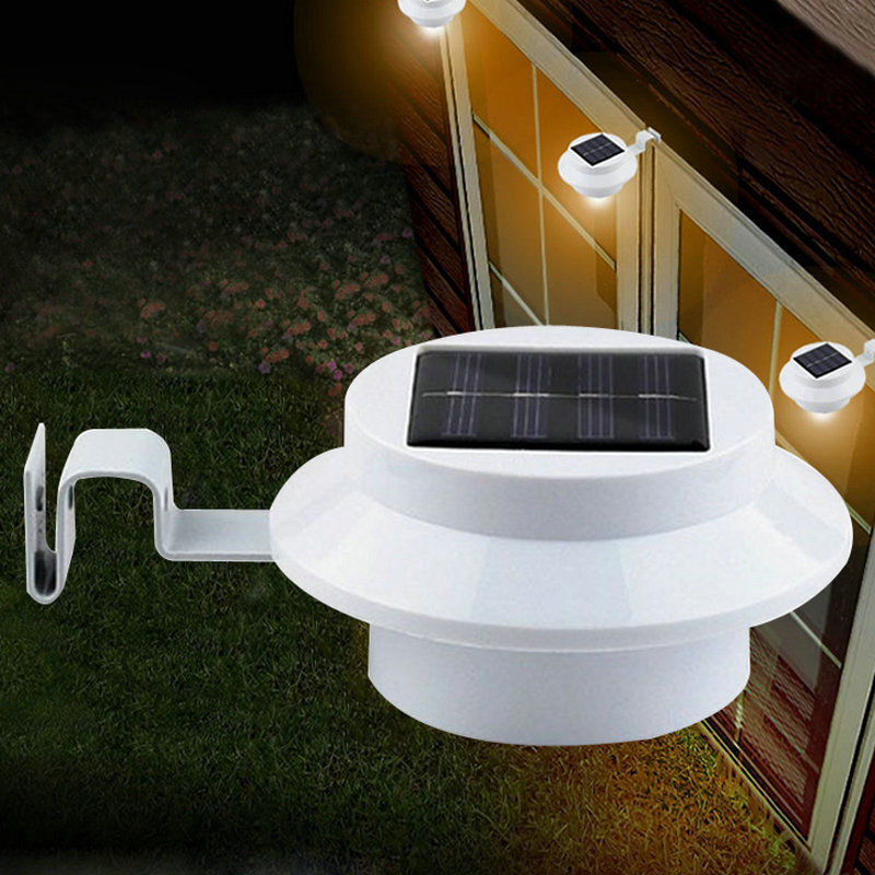New 1pc 3led Outdoor Solar Security Spot Light Wall Lamp