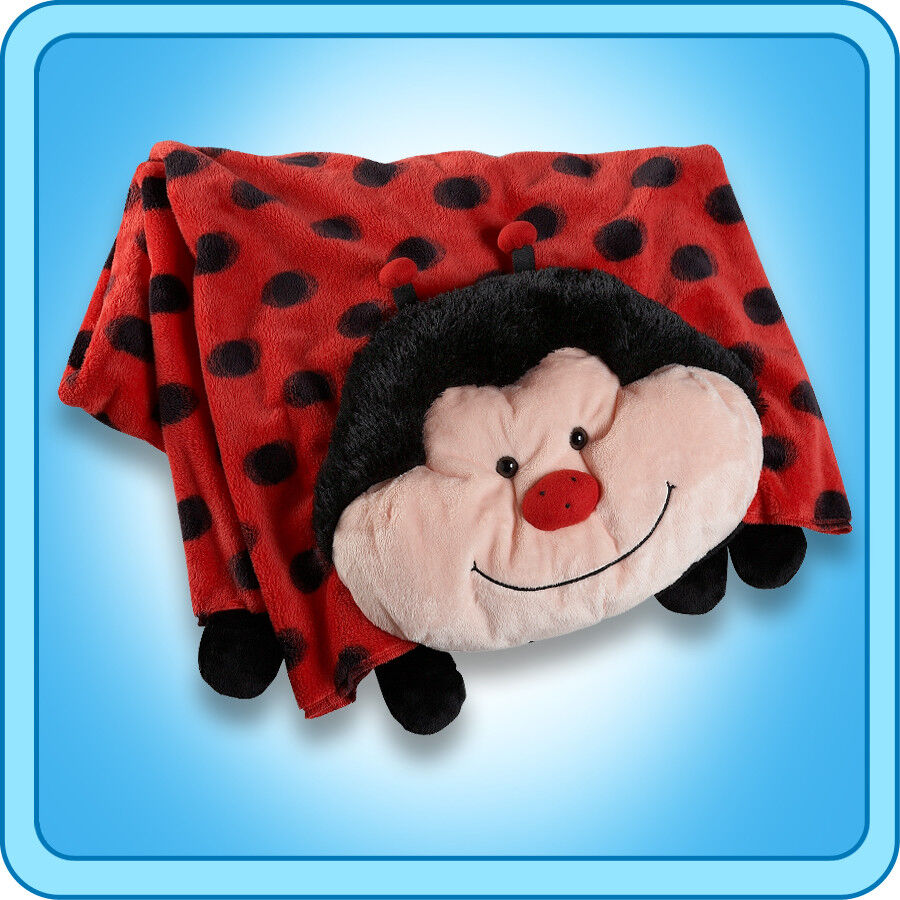 Animal Pillow Blanket : Authentic Pillow Pet Ms Lady Bug Blanket Plush Toy Gift eBay