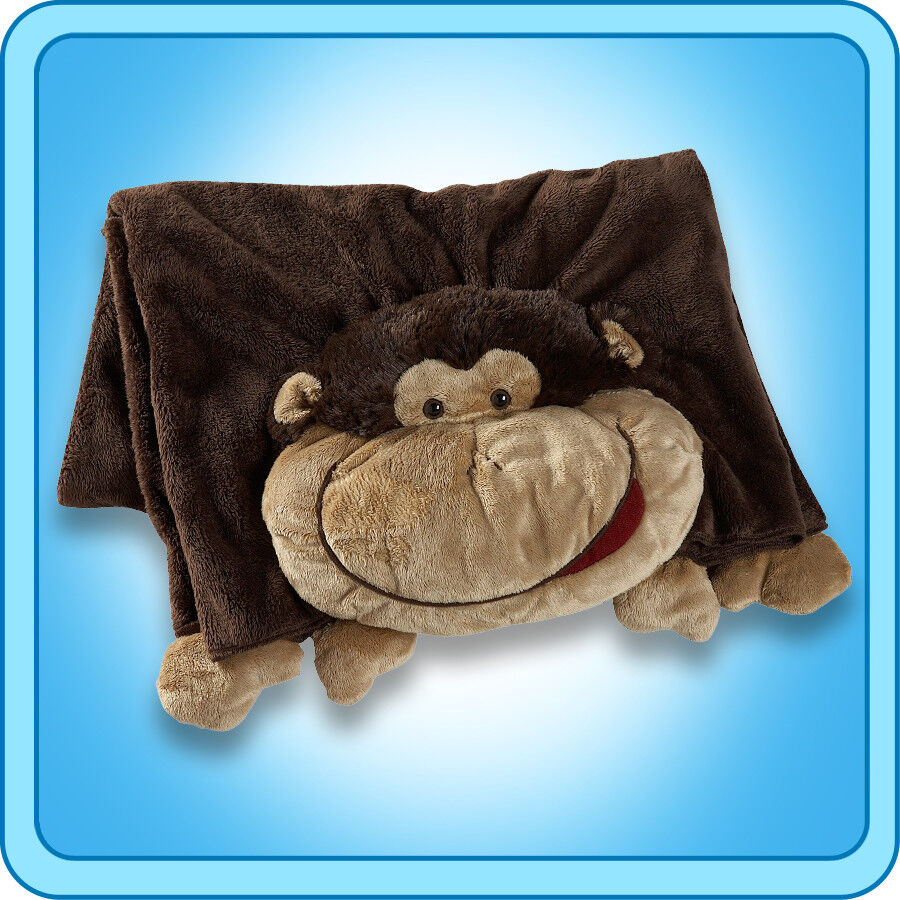 Authentic Pillow Pet Silly Monkey Blanket Plush Toy Gift eBay