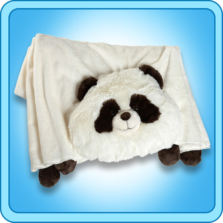 Animal Pillow Blanket : Authentic Pillow Pet Comfy Panda Blanket Plush Toy Gift eBay
