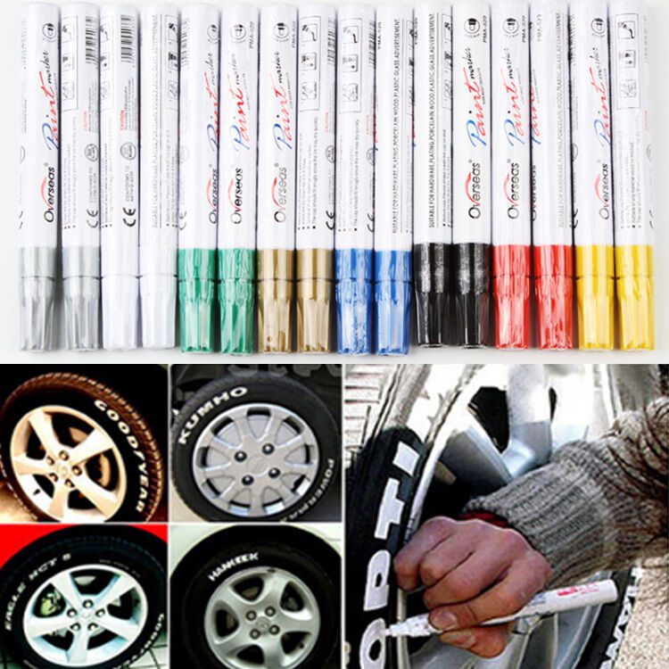 universal waterproof permanent paint marker  car tyre tire tread rubber metal ebay