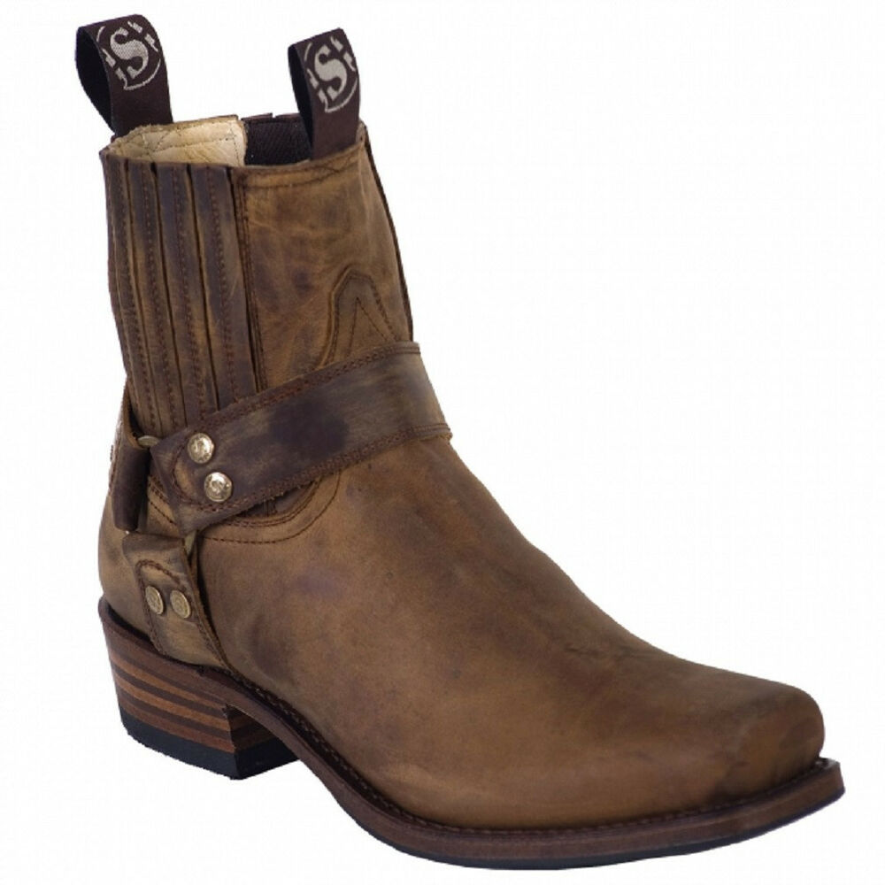 sendra 8286 brown biker boots ebay. Black Bedroom Furniture Sets. Home Design Ideas