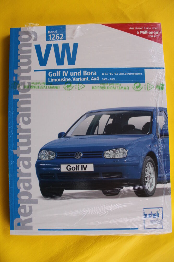vw golf 4 iv bora benziner bis 2000 2002 reparaturanleitung handbuch ebay. Black Bedroom Furniture Sets. Home Design Ideas