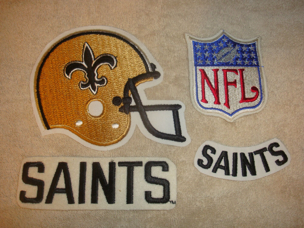 New orleans saints team names helmet patch nfl embroidered patchss