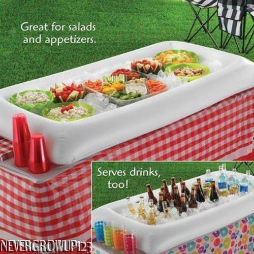 INFLATABLE BUFFETSALADFLOATING POOL BARCOOLERICEPARTY