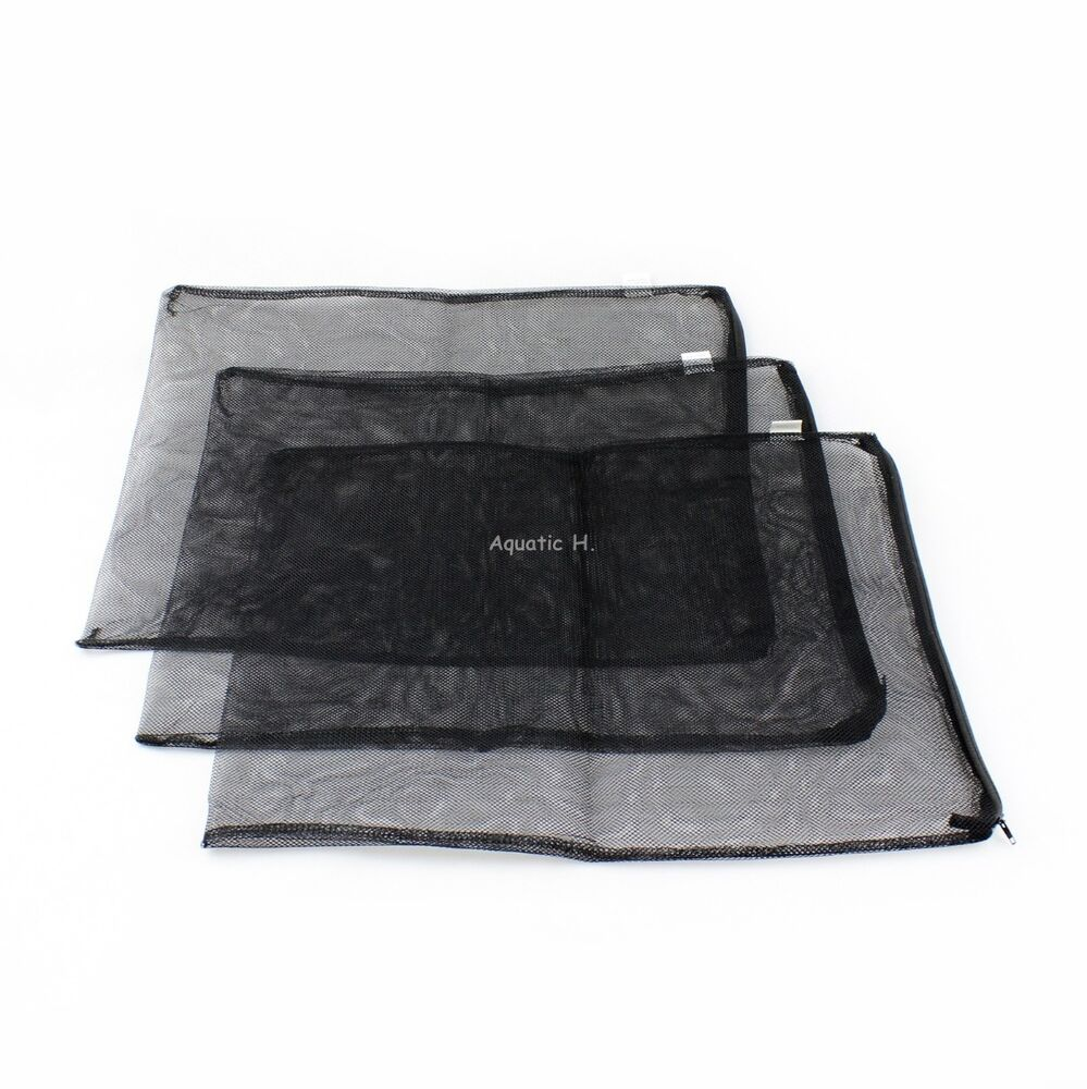 3 pcs filter media mesh bags 16 x 13 zipper reusable for Fish pond filter mesh