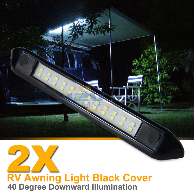2X 12V LED Awning Light RV Camper Trailer Boat Exterior Camping Bar Lamp Cool W 9345083009092