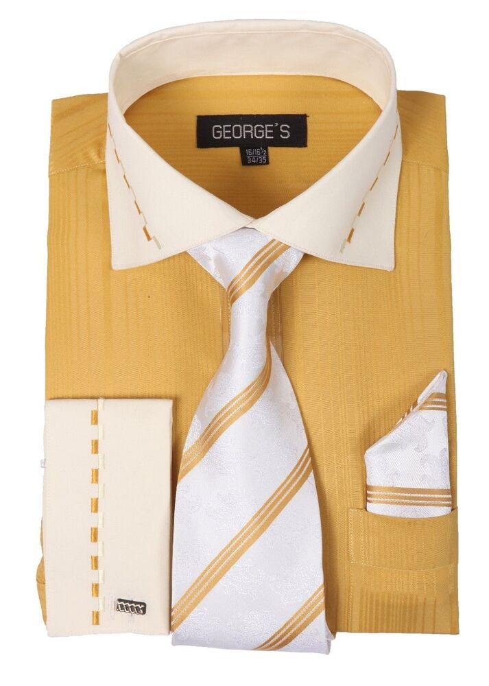 Mens Dress Shirts With French Cuffs