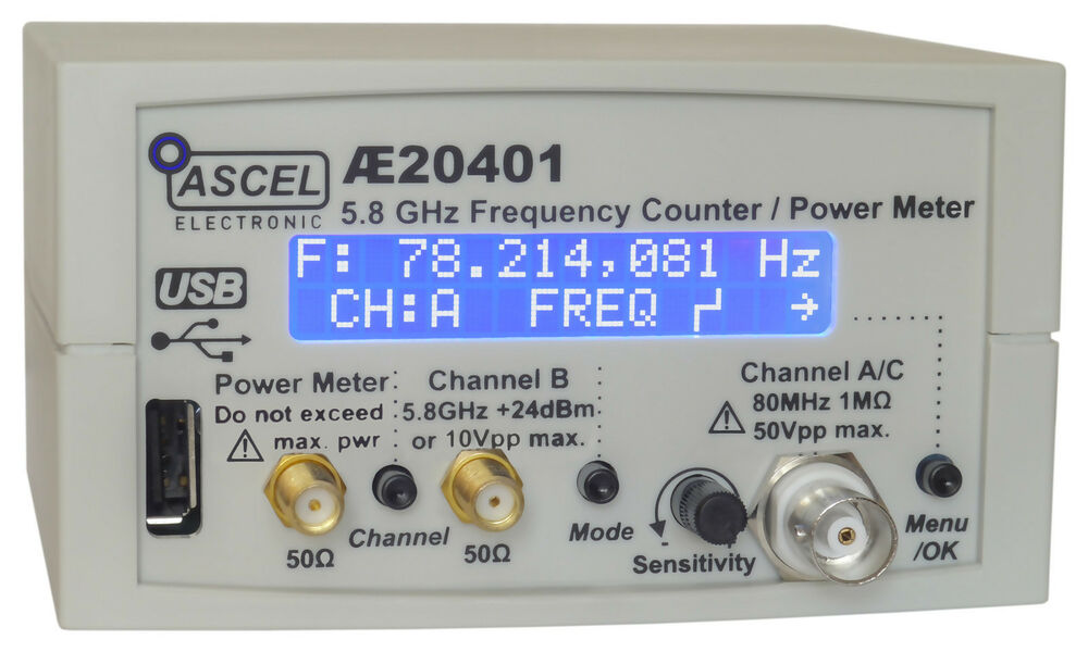 Rf Frequency Counter : Ae ghz frequency counter rf power meter pulse