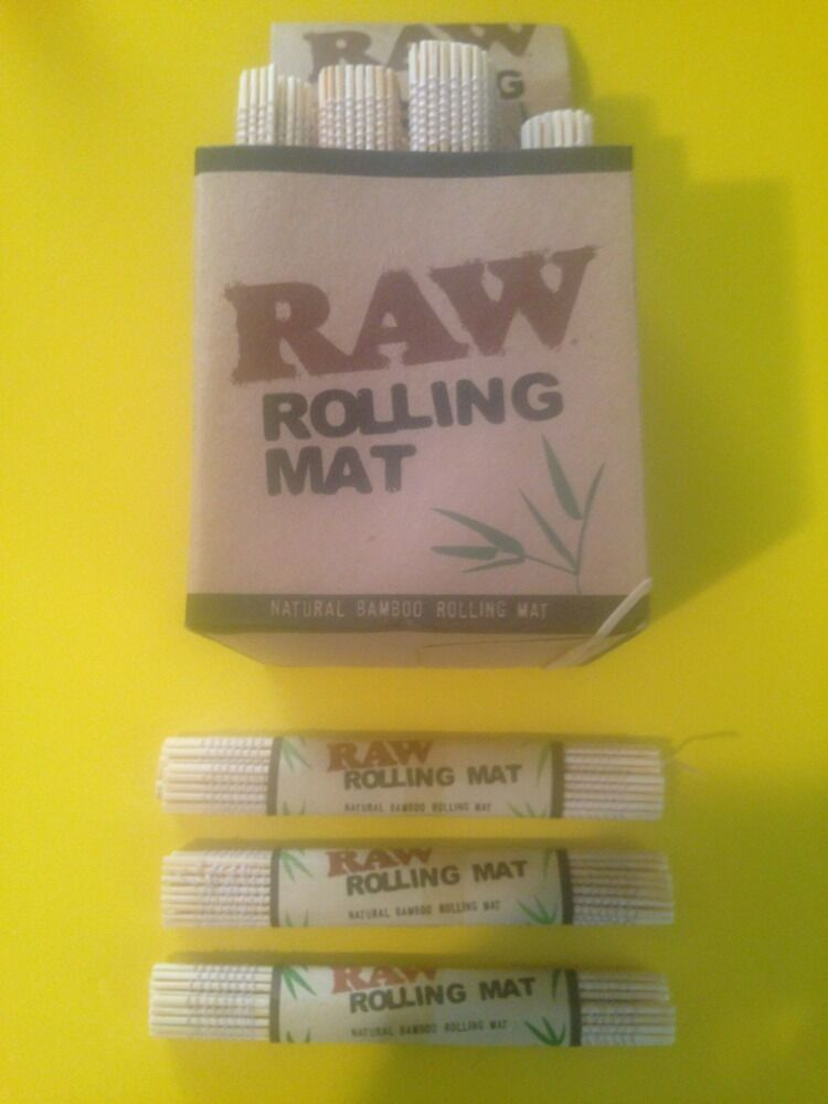 New 4 Raw All Natural Bamboo Cigarette Rolling Mat Roller