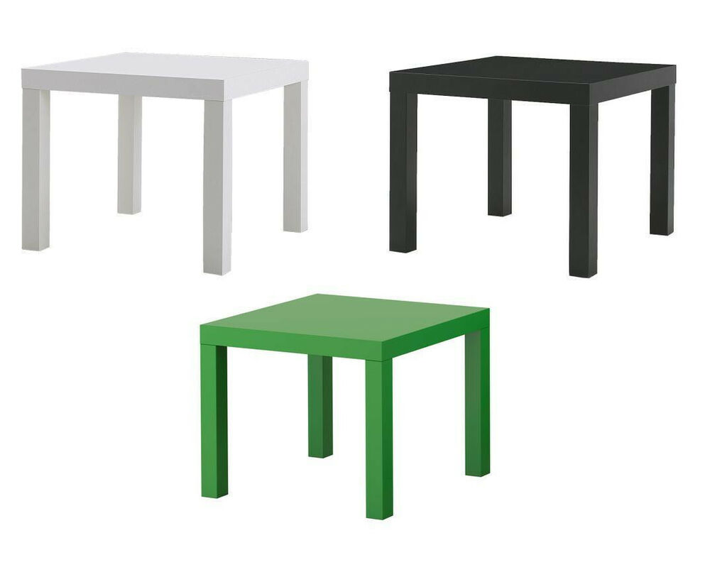 ikea beistelltisch lack 55 x 55 cm in verschiedene farben erh ltlich ebay. Black Bedroom Furniture Sets. Home Design Ideas