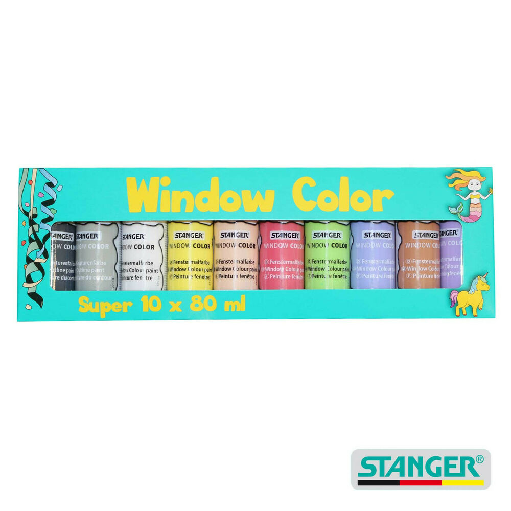 10er pack window color farben bastelpackung 10 x 80 ml. Black Bedroom Furniture Sets. Home Design Ideas