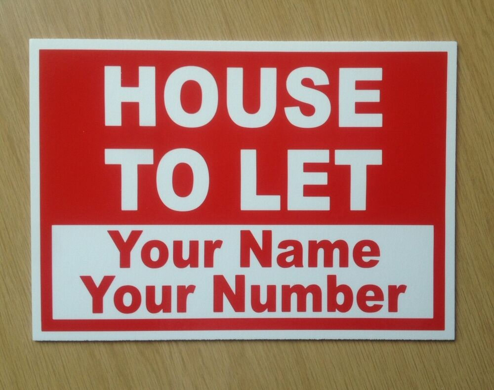 House To Let Sign With Custom Text Included Bl 91 Ebay